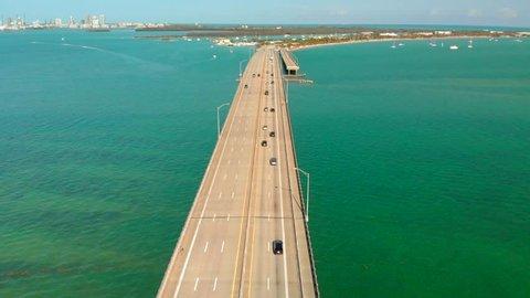Flying Over William M. Powell Bridge Miami