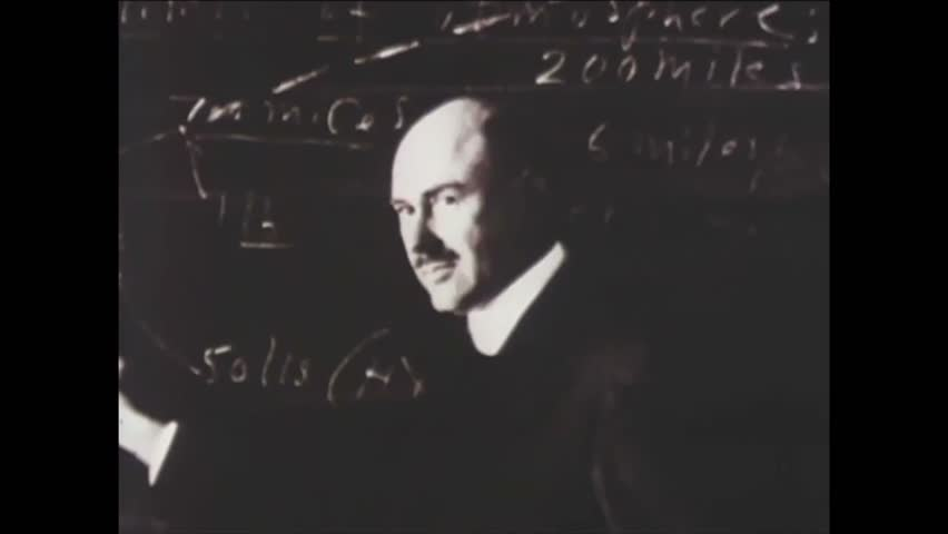 CIRCA 1930s - German scientists expand on Robert Goddard's rocket experiments (narrated in 1977).