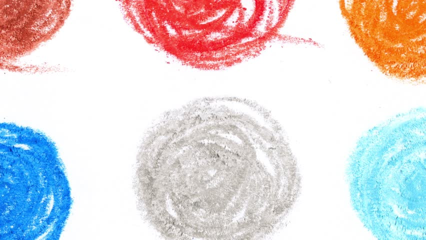 4k moving colorful pencil charcoal art stroke design | Shutterstock HD Video #1013551445