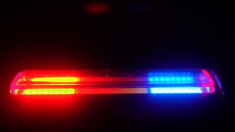 4k Flashing Police Lights