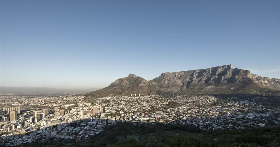 Day to night timelapse of Capetown shot from the Signal Hill