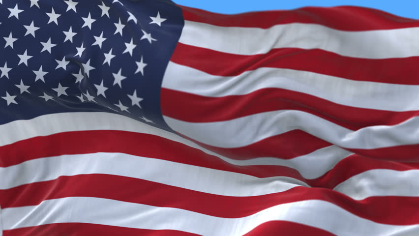 Seamless American Flag Slow Waving with visible wrinkles.Close up of UNITED STATES flag.usa,A fully digital rendering,The animation loops at 20 seconds.alpha channel included. cg_06291_4k | Shutterstock HD Video #1013657555