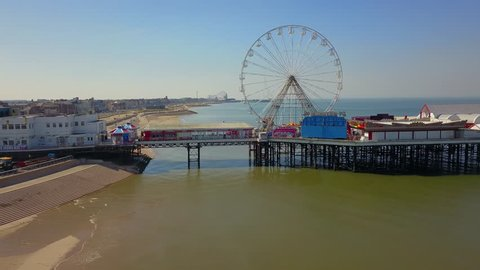 A smooth pan of the Central Pier in Blackpool, UK