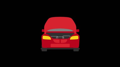 Cars Details icons animation with black png background.Car Repair icon animation with black png background.