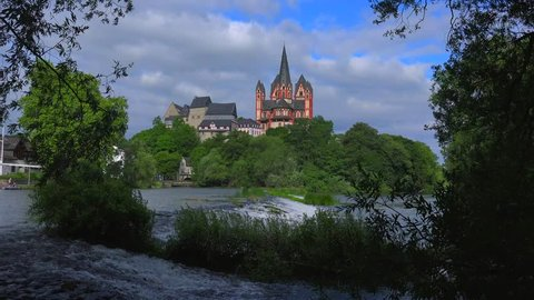 Cathedral and Landgrave Castle, Limburg an der Lahn, Westerwald, Hesse, Germany, Europe