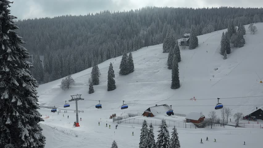 Skiing area at Feldberg Pass, South Black Forest, Schwarzwald, Baden-Wurttemberg, Germany, Europe