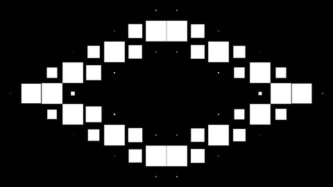 Modern black and white background of wild flickering squares. High Definition CGI motion backgrounds ideal for editing, led backdrops or broadcasting featuring black and white squares moving in