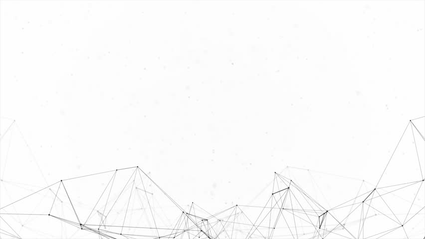 Clean White Abstract polygonal Digital Concept Geometrical Polygon Plexus Fractals Moving low poly Technologies Minimalist design element Seamless loop background for corporate business presentation | Shutterstock HD Video #1013908595