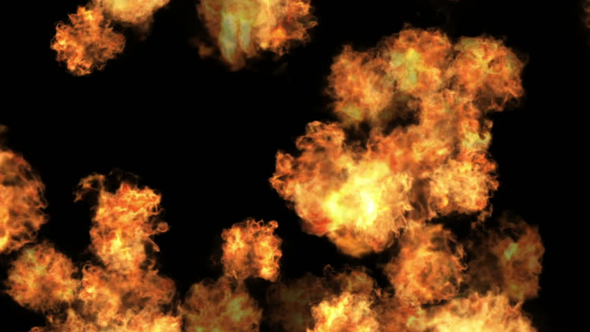 4k Hot fire burning background,Abstract powerful explosion particle smoke power firework energy.