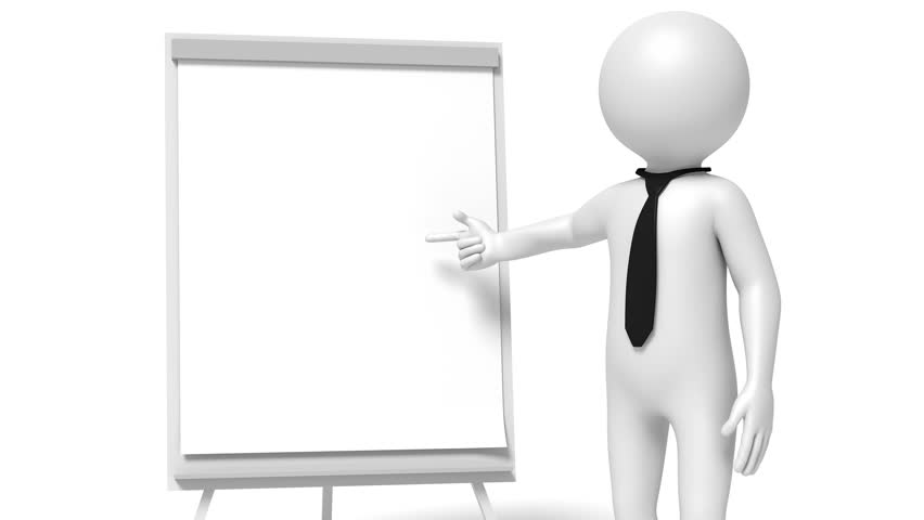 Animation of a businessman showing on flip-chart with changing numbers | Shutterstock HD Video #1013948225