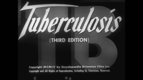 CIRCA 1950s - A health film about tuberculosis in 1955.