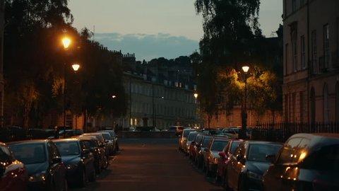 Night in England - city of Bath