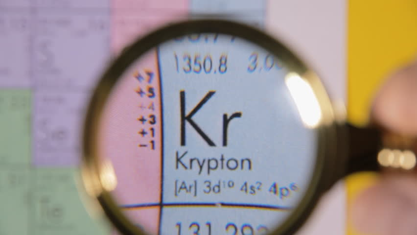 Krypton Chemical Symbol Royalty Free Stock Video In 4k And Hd