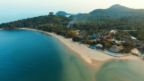 aerial view of koh payam island andaman sea ranong southern of thailand
