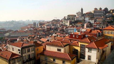 View of Porto - old and beautiful portuguese city. Oporto, Portugal.