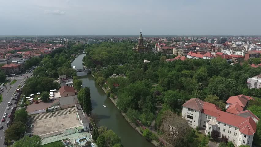 Timisoara Tracked from the Helicopter