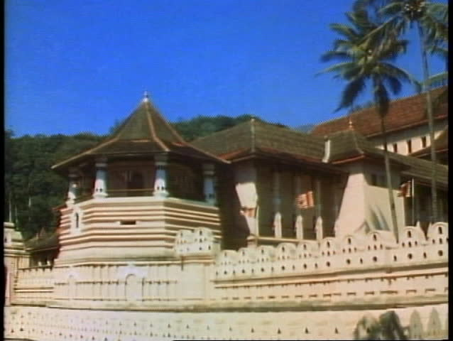 KANDY, SRI LANKA, 1982, The Temple of the Tooth, home of the tooth of Buddha | Shutterstock HD Video #1014457595