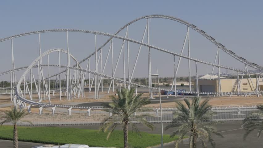 Exterior of Ferrari World Abu Dhabi, Yas Island, Abu Dhabi, United Arab Emirates, Middle East, Asia