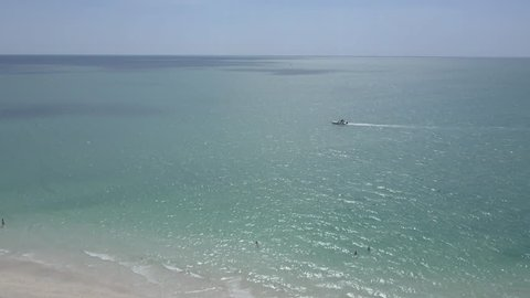 Boating out at sea off Nokomis Beach Florida near Sarasota