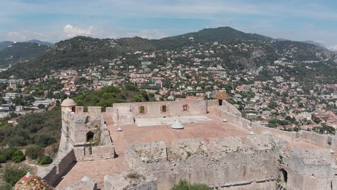 French Castle Mont-boron aerial