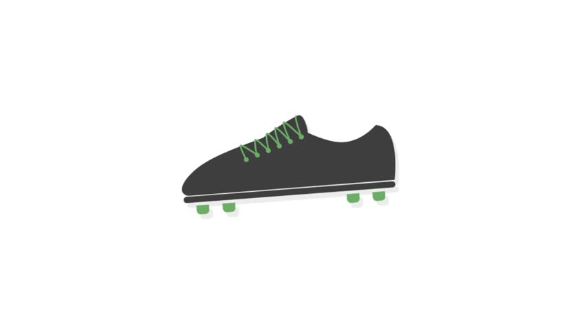 Sports icons animation with white  background.Sports shoe icon animation with white background.
