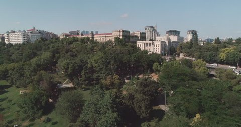A magnificent 4k aerial flight over Istanbul Technical University. Turkey. Istanbul Technical University is the world's third-oldest technical university.