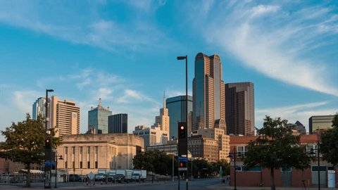 Dallas southern skyline time-lapse with nice cloud movement