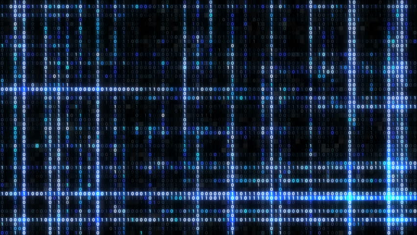 Abstract blue futuristic background of information technology binary digital data code seamless loop animation | Shutterstock HD Video #1014715775