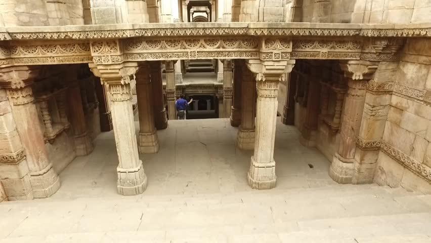 Adalaj Stepwell, Ahmedabad, Gujarat, India.