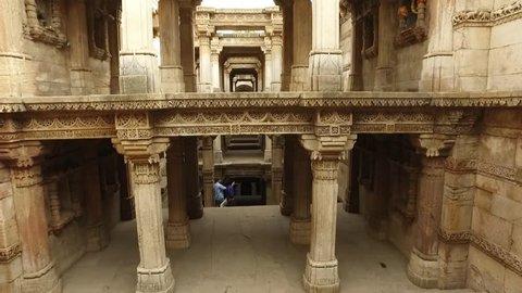 Adalaj Stepwell, Heritage City Ahmedabad, Gujarat, India.