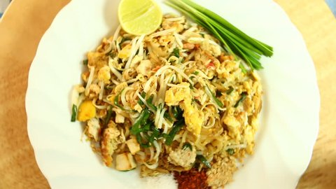 Stir fried noodle Thai style or Pad Thai, Thai famous food