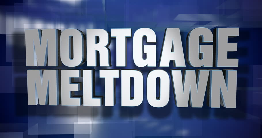 A blue dynamic 3D Mortgage Meltdown transition and title page animation. 5 and 2 second options included with optional luma matte for both.  | Shutterstock HD Video #1014869155