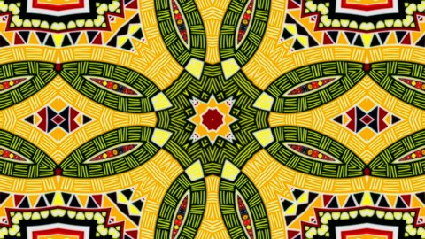Abstract kaleidoscope of geometric patterns and figures