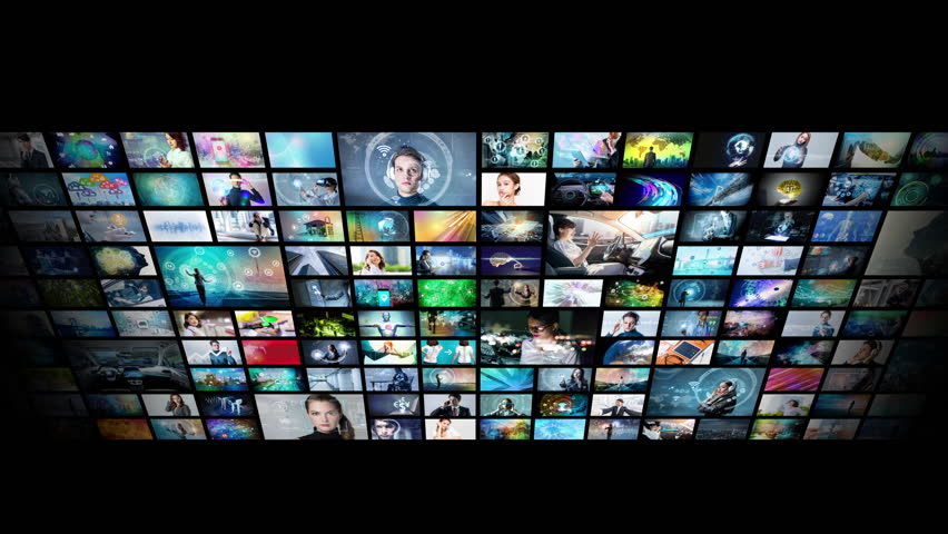 A lot of pictures in cyberspace. | Shutterstock HD Video #1015019815