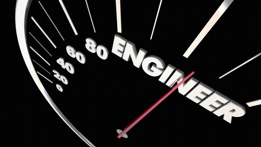 Engineer Invent Create Build Speedometer Word 3d Animation