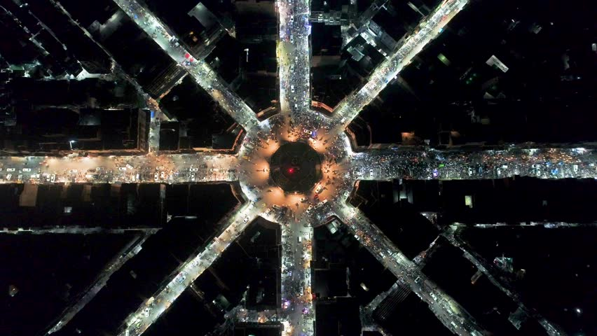 4k Aerial Footage of Ghanta Ghar Faisalabad | Shutterstock HD Video #1015113025