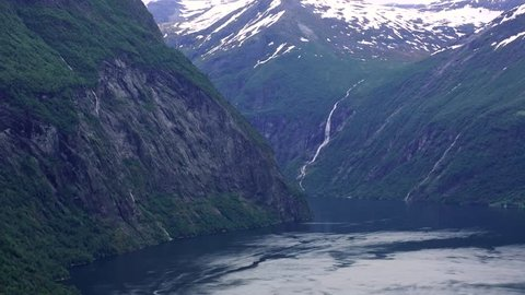 Ferryboat in Geiranger Fjord, Norway
