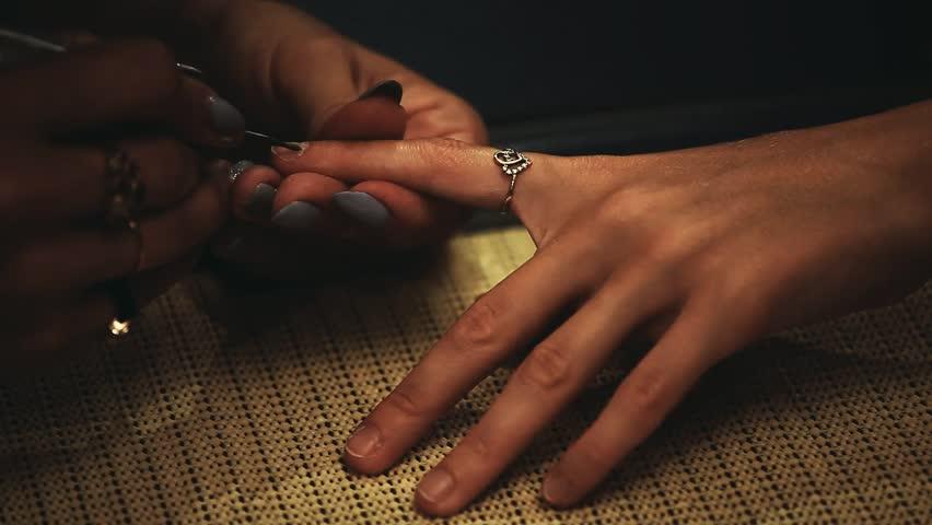 Manicure hands salon | Shutterstock HD Video #1015247305