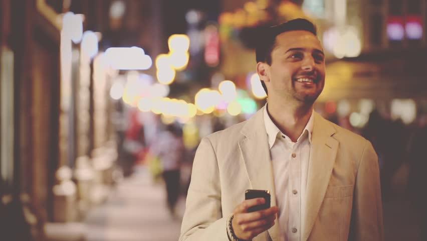 The man talking at night   Shutterstock HD Video #10152665