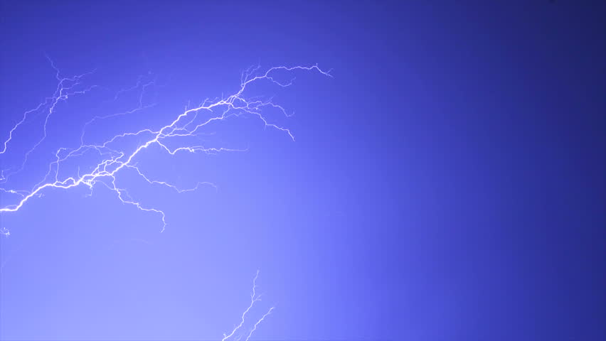 The thunderstorm with lightning in the night sky. slow motion | Shutterstock HD Video #1015278565