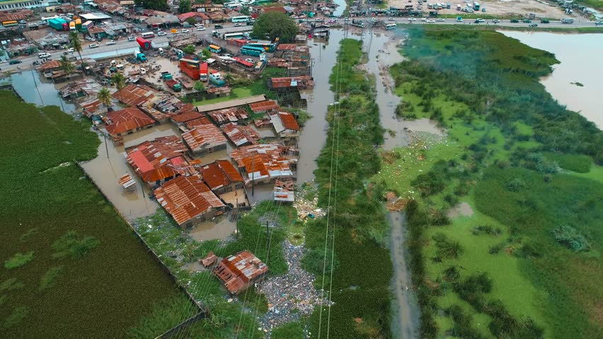 Dar es salaam flood scene occurred due to the heavy rainfall