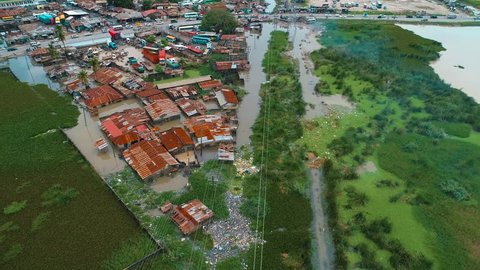 Dar es salaam flood scene occurred due to the heavy rainfall