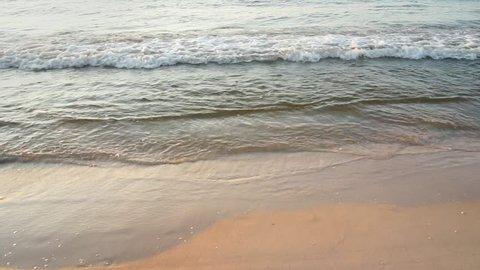 Sea water's edge close-up.