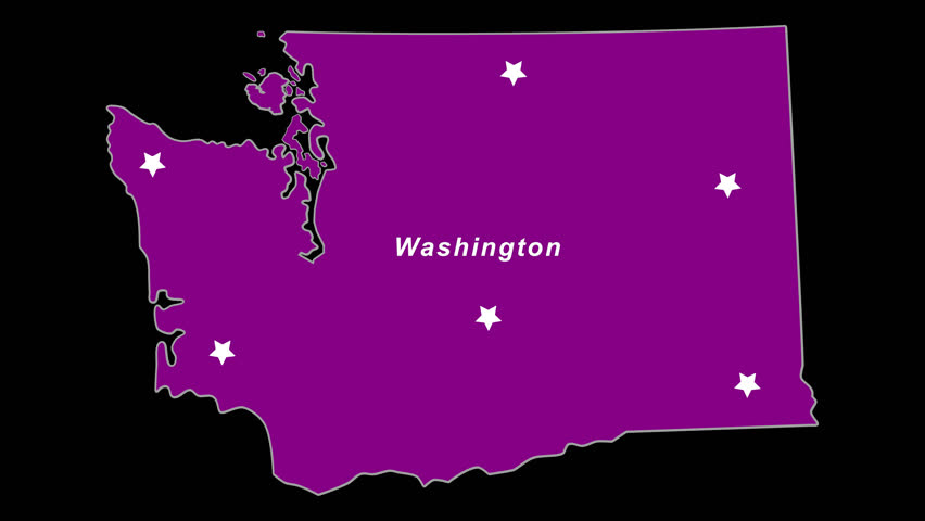 Purple State Map.4k00 07washington As Purple State Election Map Animated Alpha