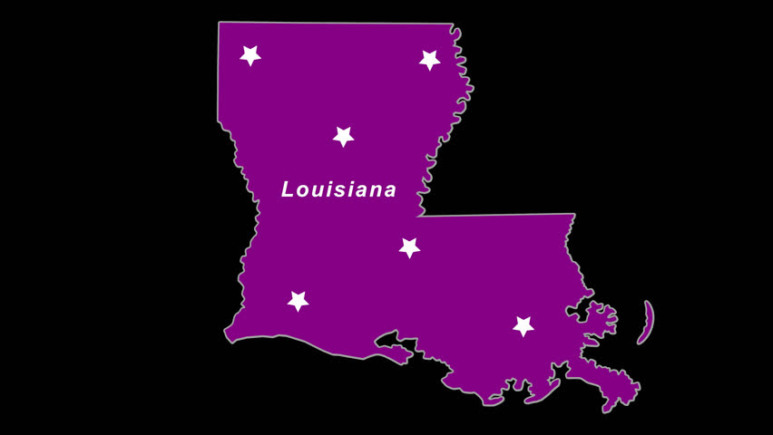 Purple State Map.Louisiana As Purple State Election Stock Footage Video 100