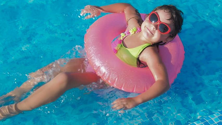 Naked swimming little girls