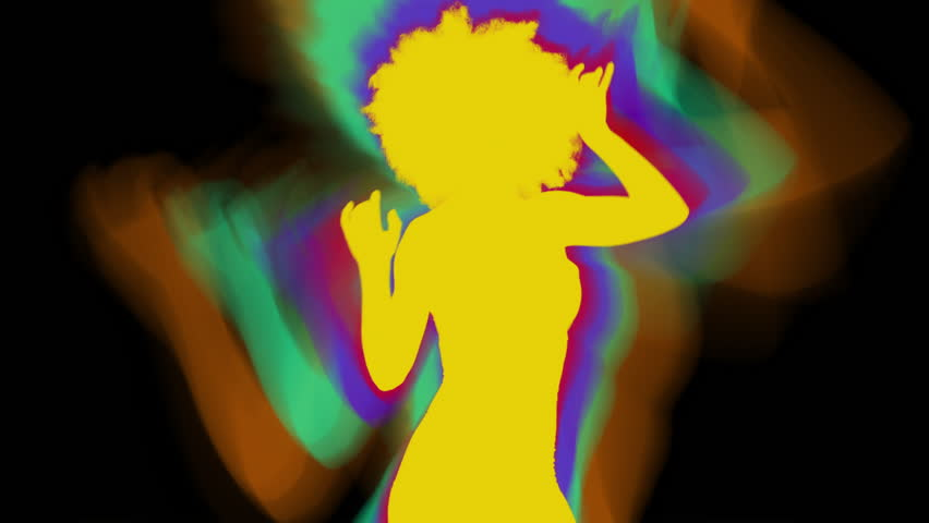 Silhouetted shadow dancer woman in disco and club scene | Shutterstock HD Video #1015539685