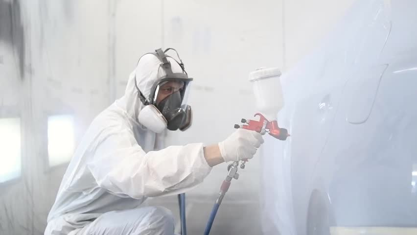 Car painting in chamber | Shutterstock HD Video #1015687405