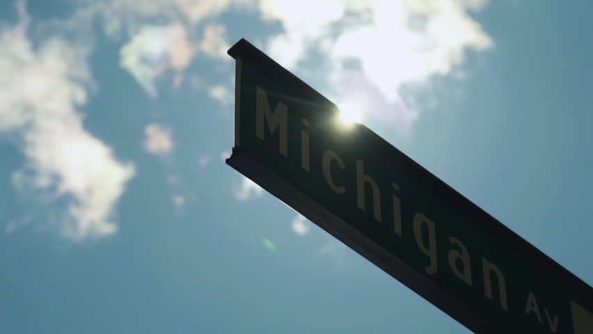 Michigan Ave Sign in Downtown Chicago which The Magnificent Mile is Located