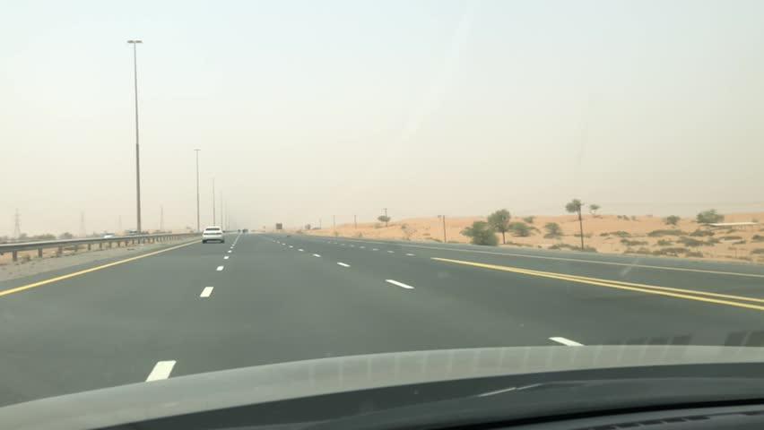 Drive trough the UAE dessert | Shutterstock HD Video #1015733365